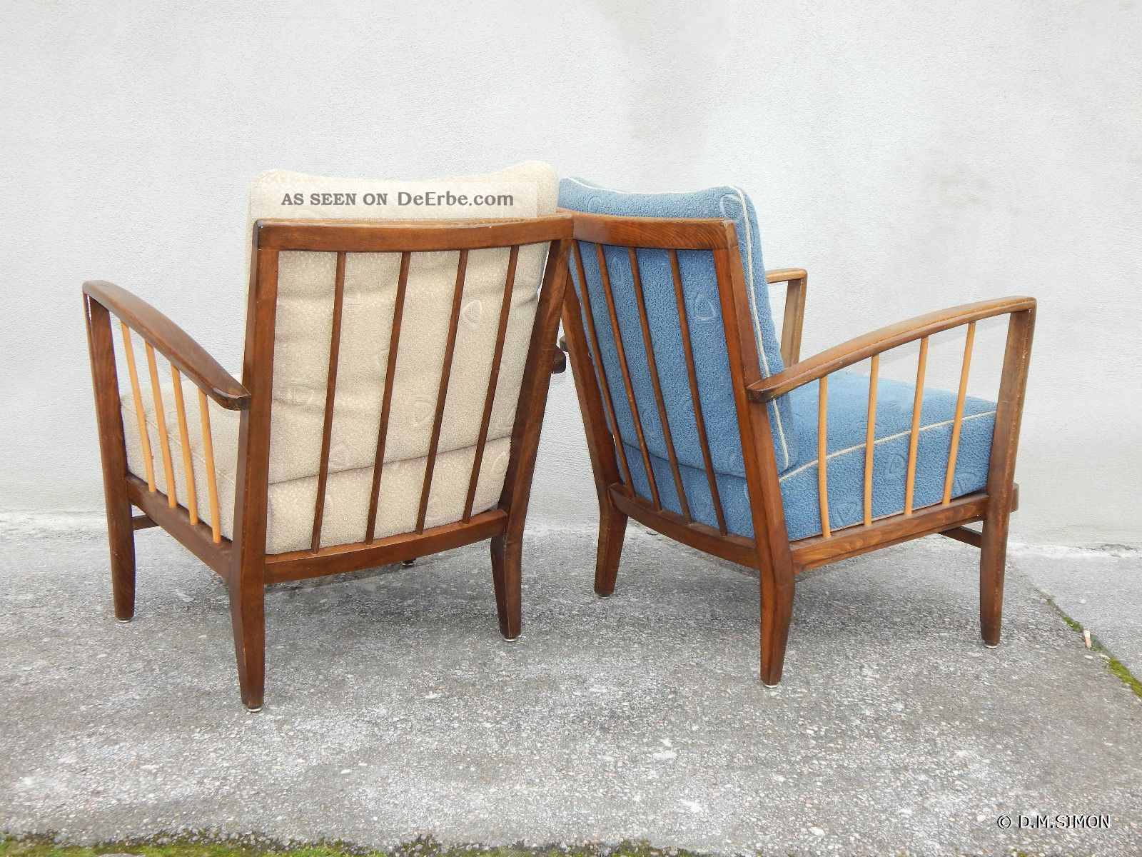 Easy Chair Sessel 2 Sessel Easy Chair Lounge 50er Jahre Mid Century