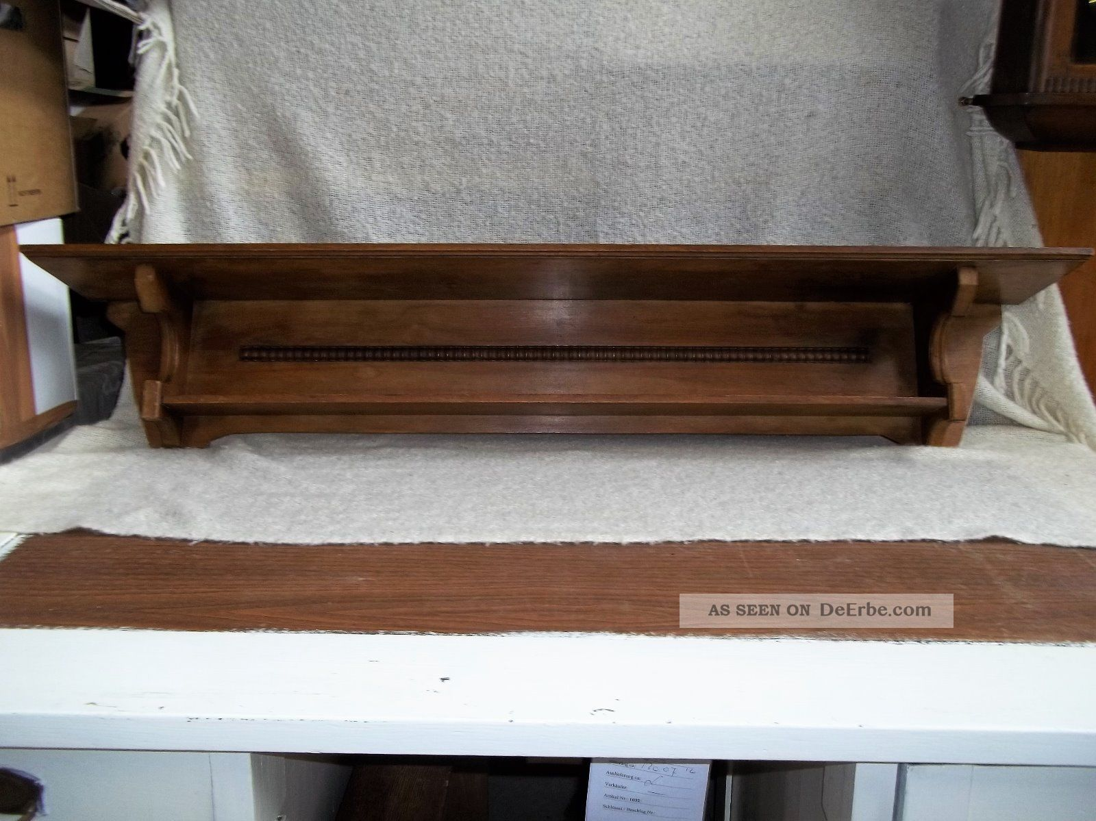 Wandregal Altes Holz Jugendstil Wandregal Wandbord Regal Konsole Ca. Um 1920