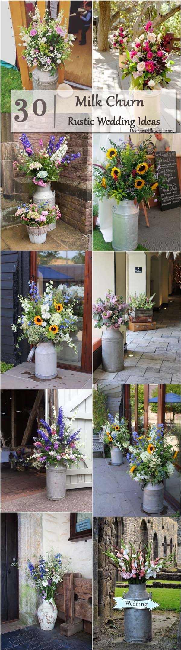 Decorative Milk Urn 30 Rustic Country Wedding Ideas With Milk Churn Deer Pearl
