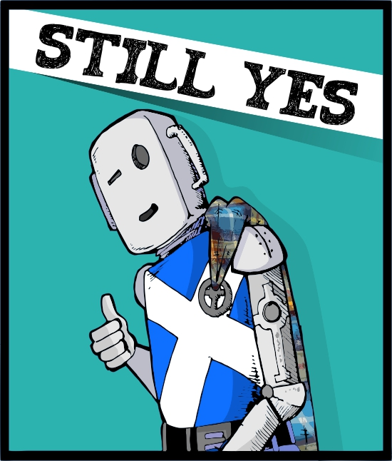 StillYes Robot. Drawn by @ARTofPatt and coloured by @defiaye