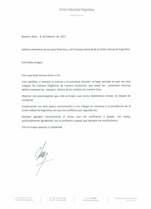 Ejemplos de Cartas de Dimisión 2018 - DeFinanzas