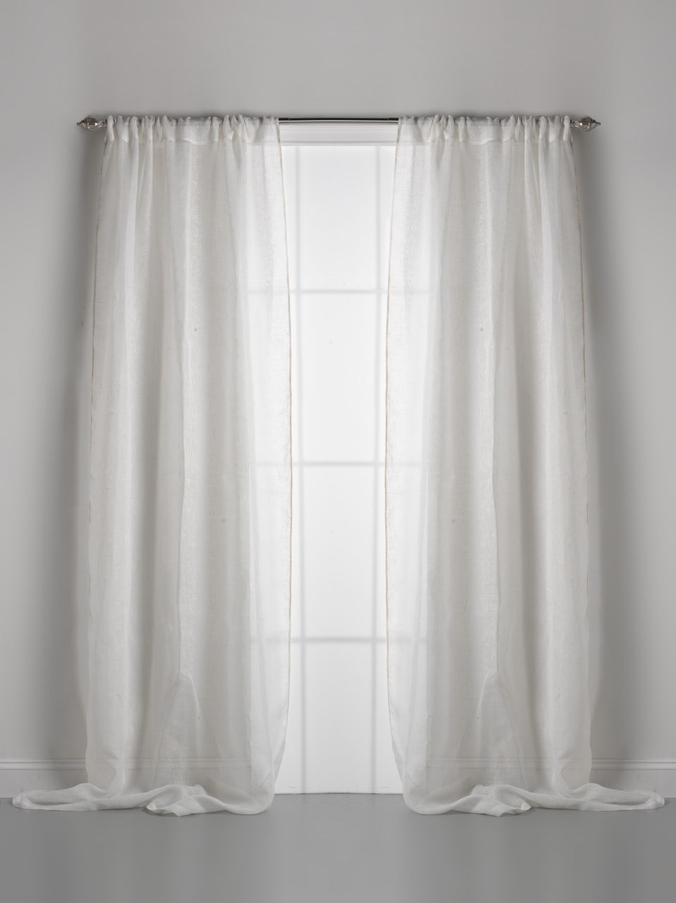 Sheepskin Couture Dreams Solid Linen Gauze Window Curtain