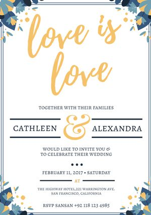 Free Printable Wedding Invitation Templates For Word - Business Card