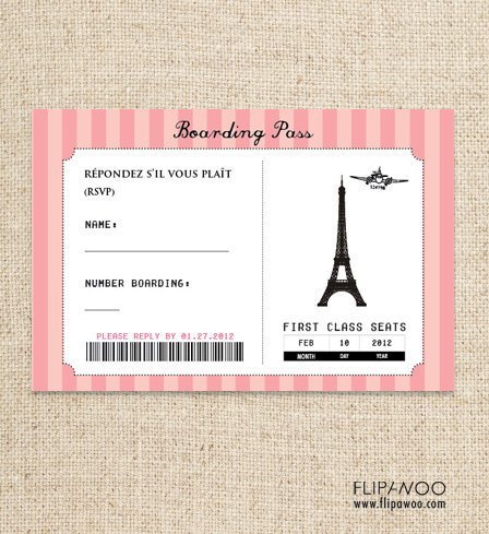 Printable Airline Ticket Template - Business Card - Website