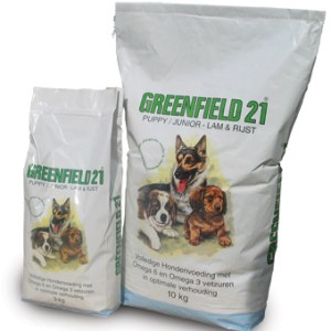 Greenfield 21 Puppy  Junior Lam _ rijst brokken