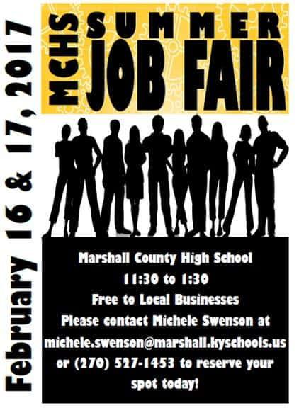 Summer Job Fair coming to Marshall County High School Marshall