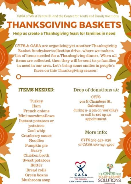 Thanksgiving for Families in Need from CASA  CYFS WGIL 937 FM