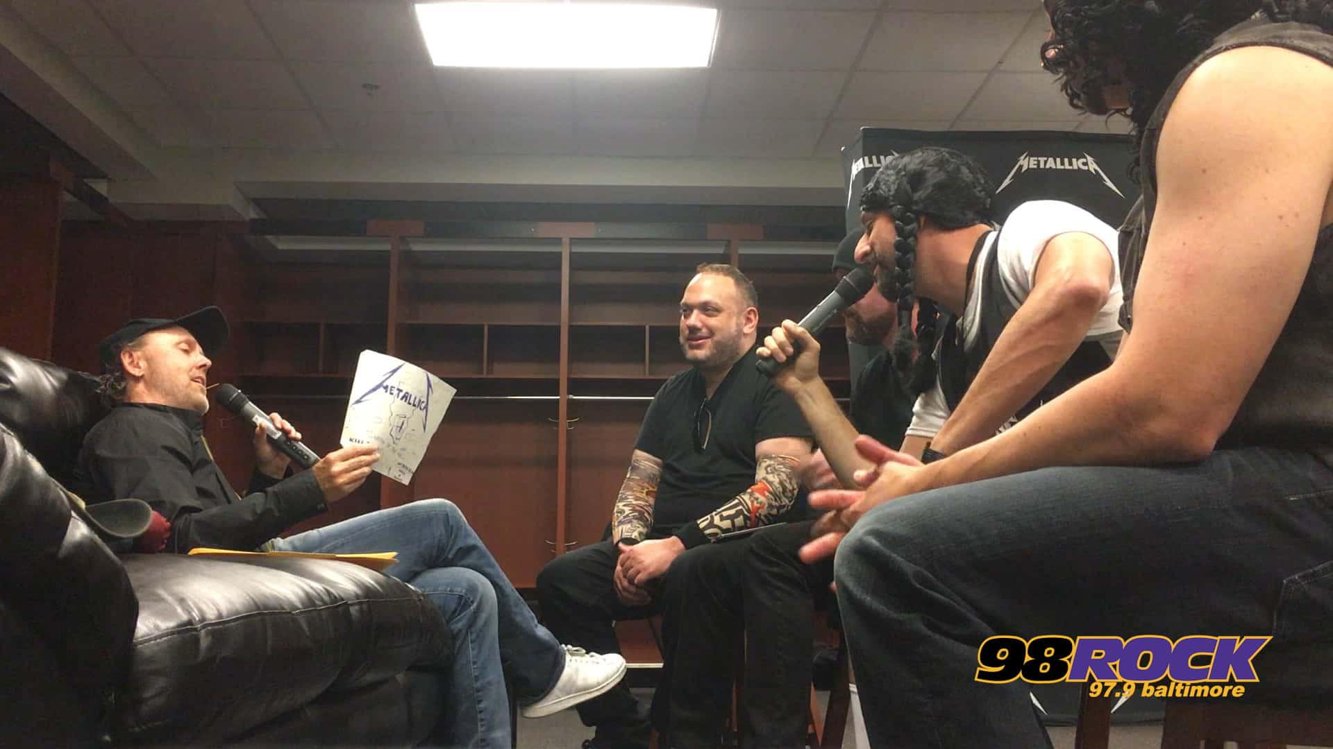 Spiegel 24 Interview Lars Of Metallica With Justin Scott And Spiegel