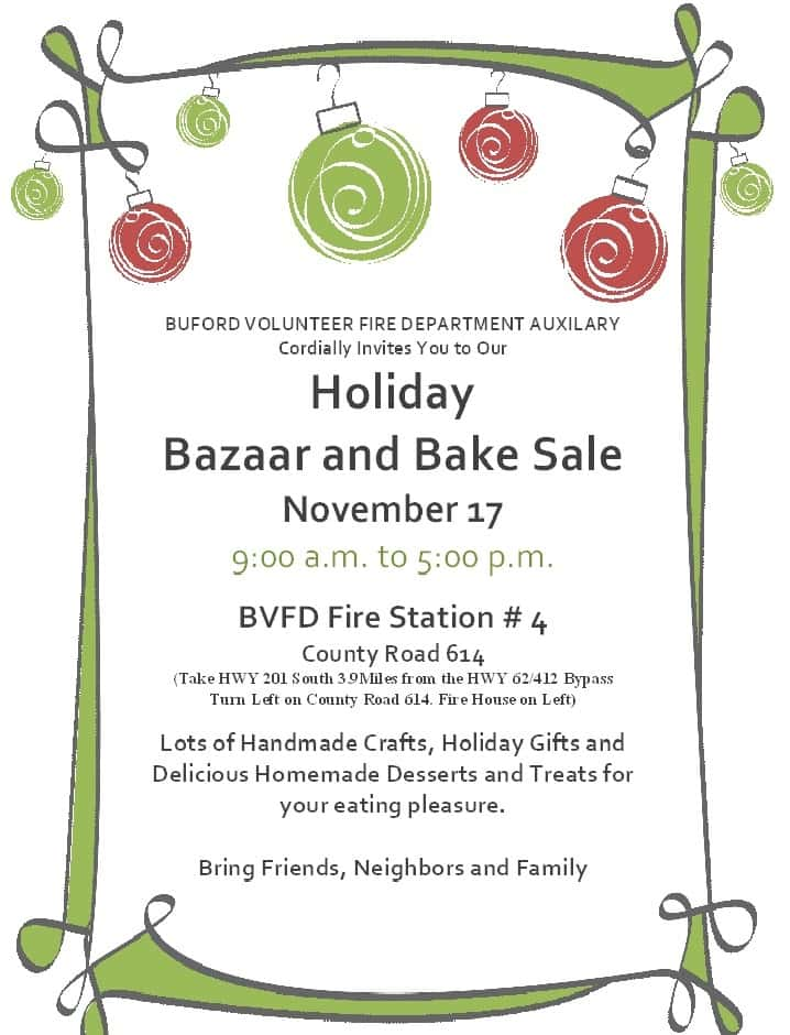 Buford VFD Auxiliary Craft Bazaar/Bake Sale KTLO LLC