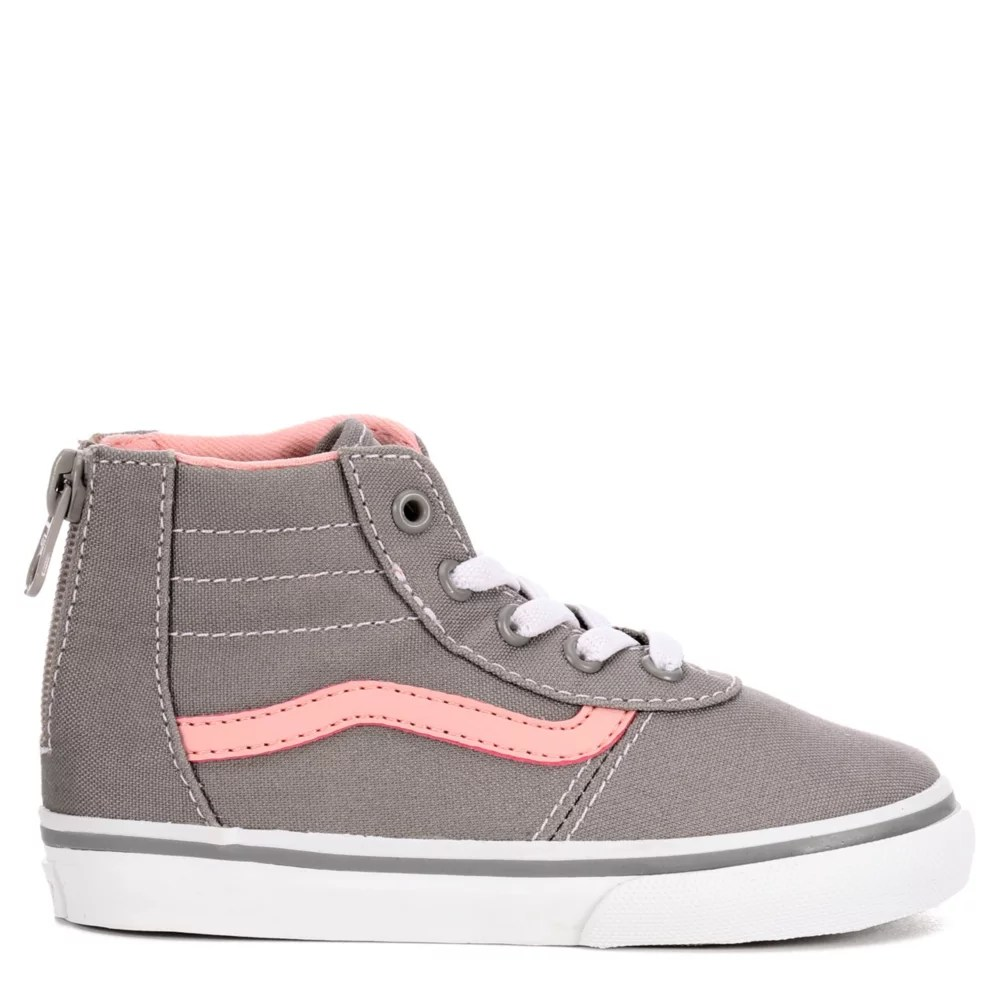 Infant Sneakers Vans Girls Ward High Top Infant Sneaker Grey