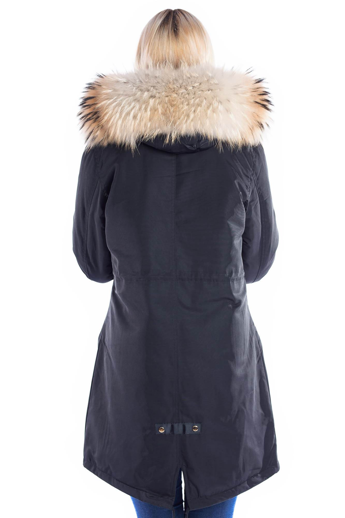 Kissen Fell Parka Mit Fellkapuze Xxl Natur Braun Fashion Blogger Style