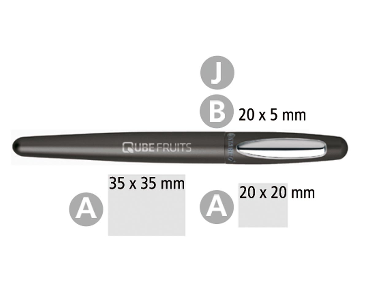 Druck Collect Stabilo Cigarro Rollerball In Schwarz Dein Pen