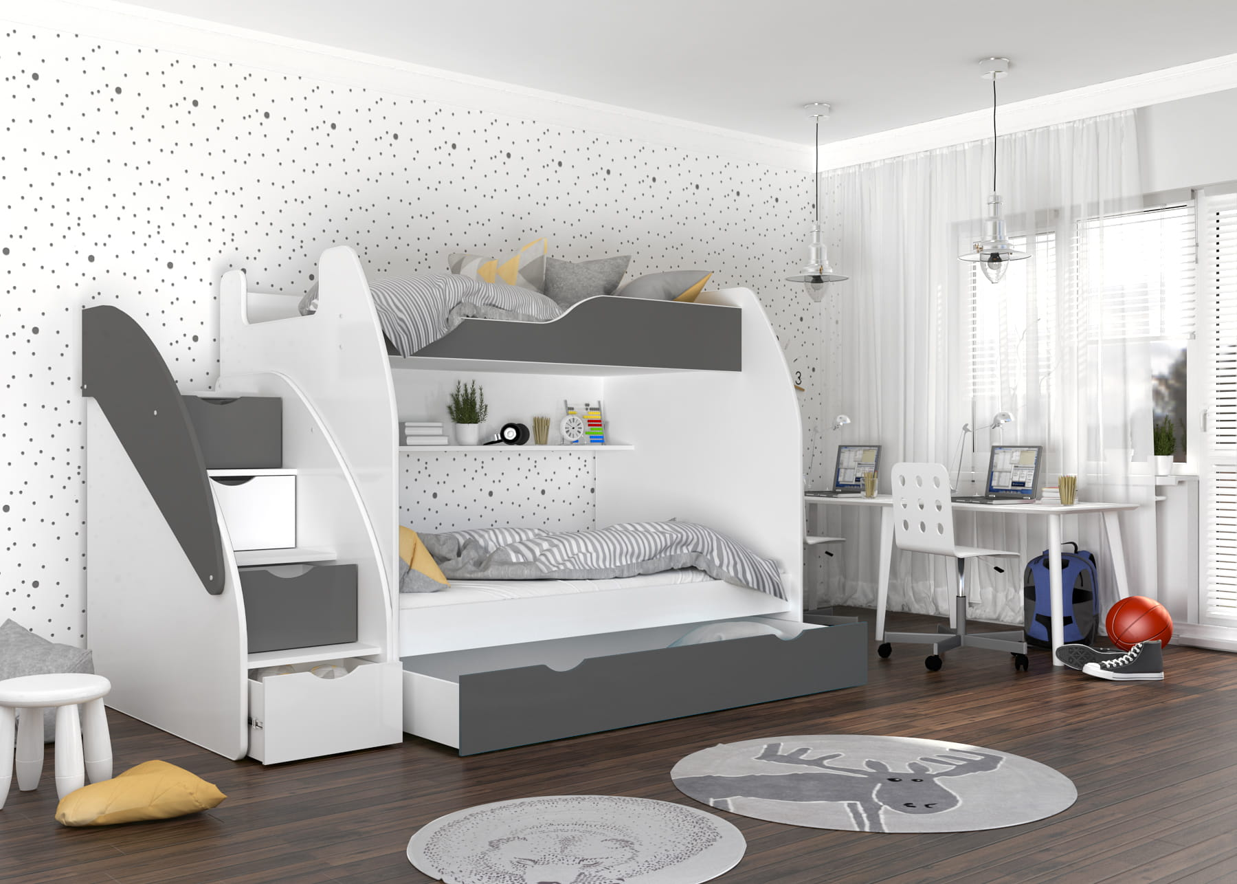 Stapelbed 4 Personen Bunk Bed Viki 1 1 1