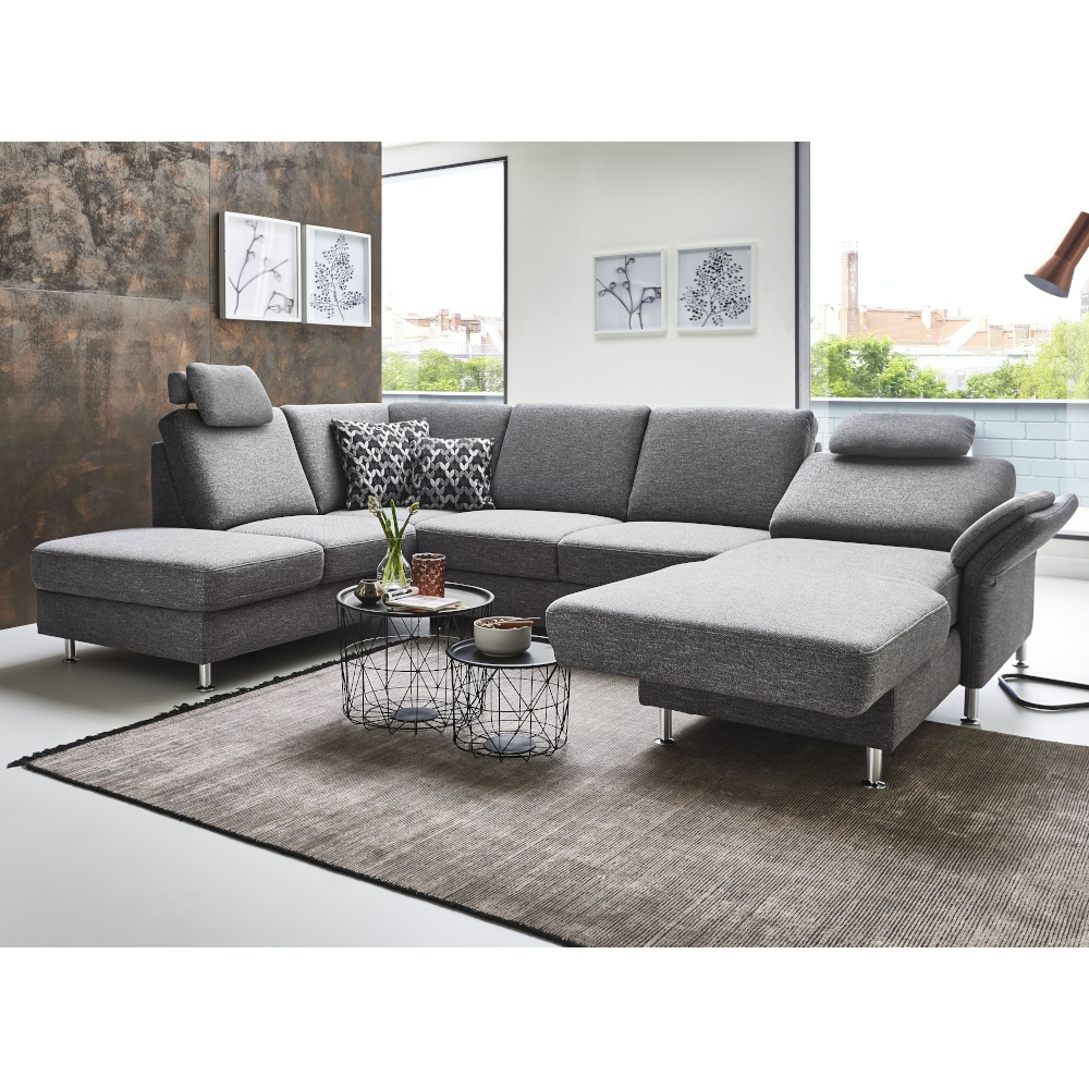 Couchgarnituren Sale Couchgarnitur Ls 404520 Vidar In Webstoff Grau ...