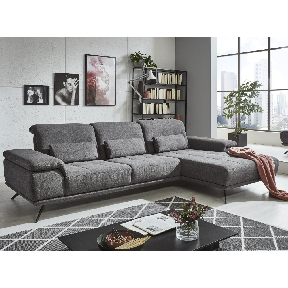 Couchgarnituren Sale Couch Ls404420 In Anthrazit Mit Kontrastfaden Und ...