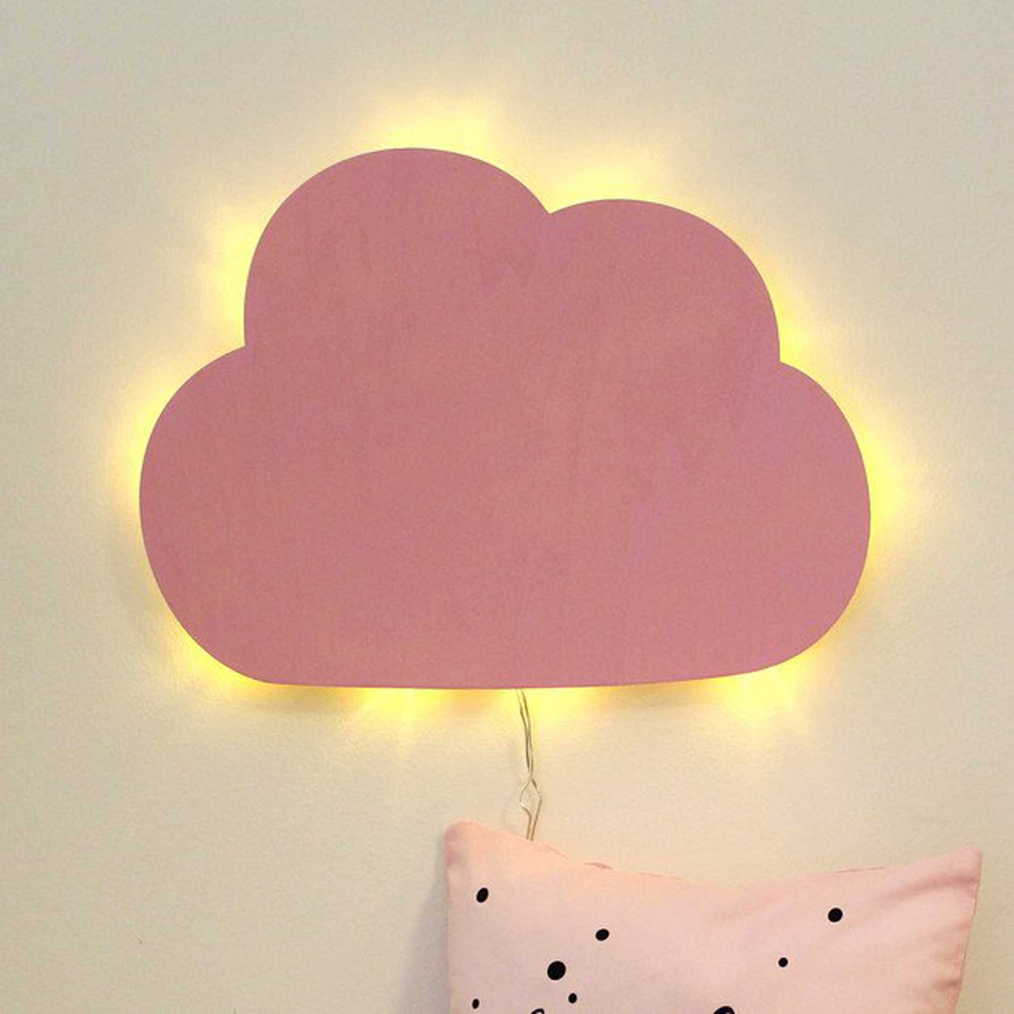 Wall Lamp Children Lamp Little Cloud Nightlight In Rose M2032 Wall Decals Bumper Sticker Murals Bags Cups Backpacks And Many More At Www Deinewandkunst Com