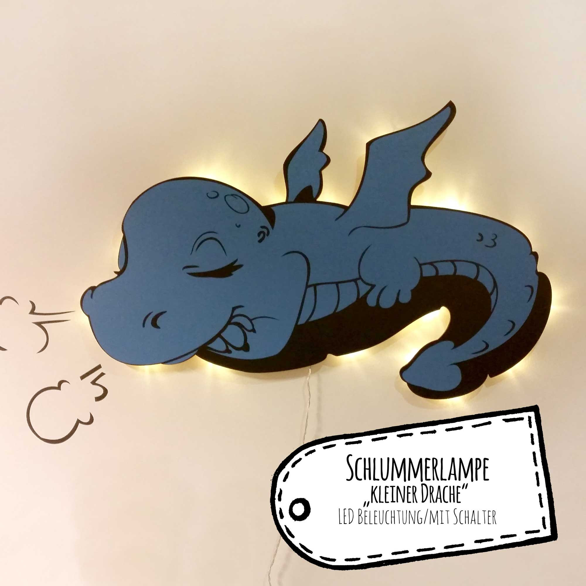 Kinderlampe Led Wall Lamp Nightlight Sleeping Baby Dragon M2039 Wall Decals
