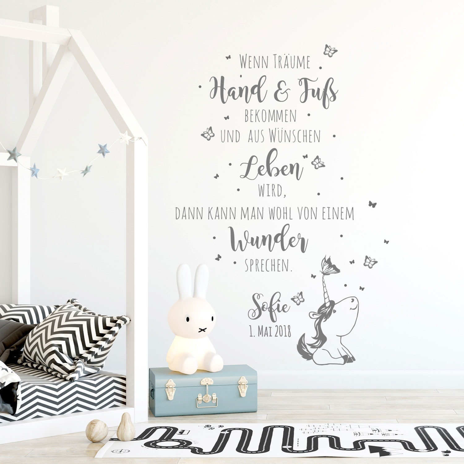 Babyzimmer Tattoo Wall Decal Quote Vinyl Decal With Saying Dreams Life Miracle Baby