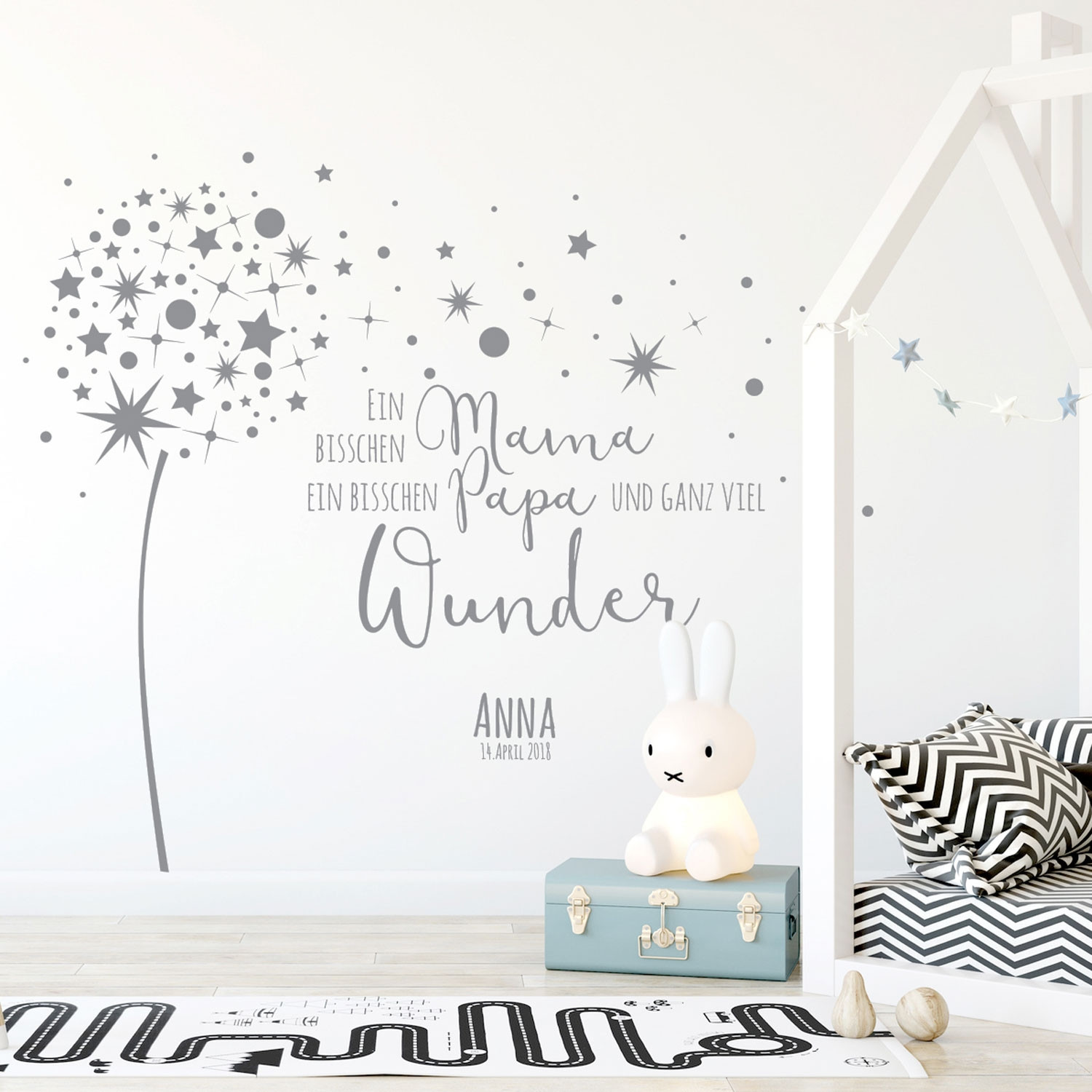 Wall Decal Dandelion Quote Vinyl Decal With Saying Wonder Baby Child Room Decoration With Desired Name And Date M2342 Wall Decals Bumper Sticker Murals Bags Cups Backpacks And Many More At