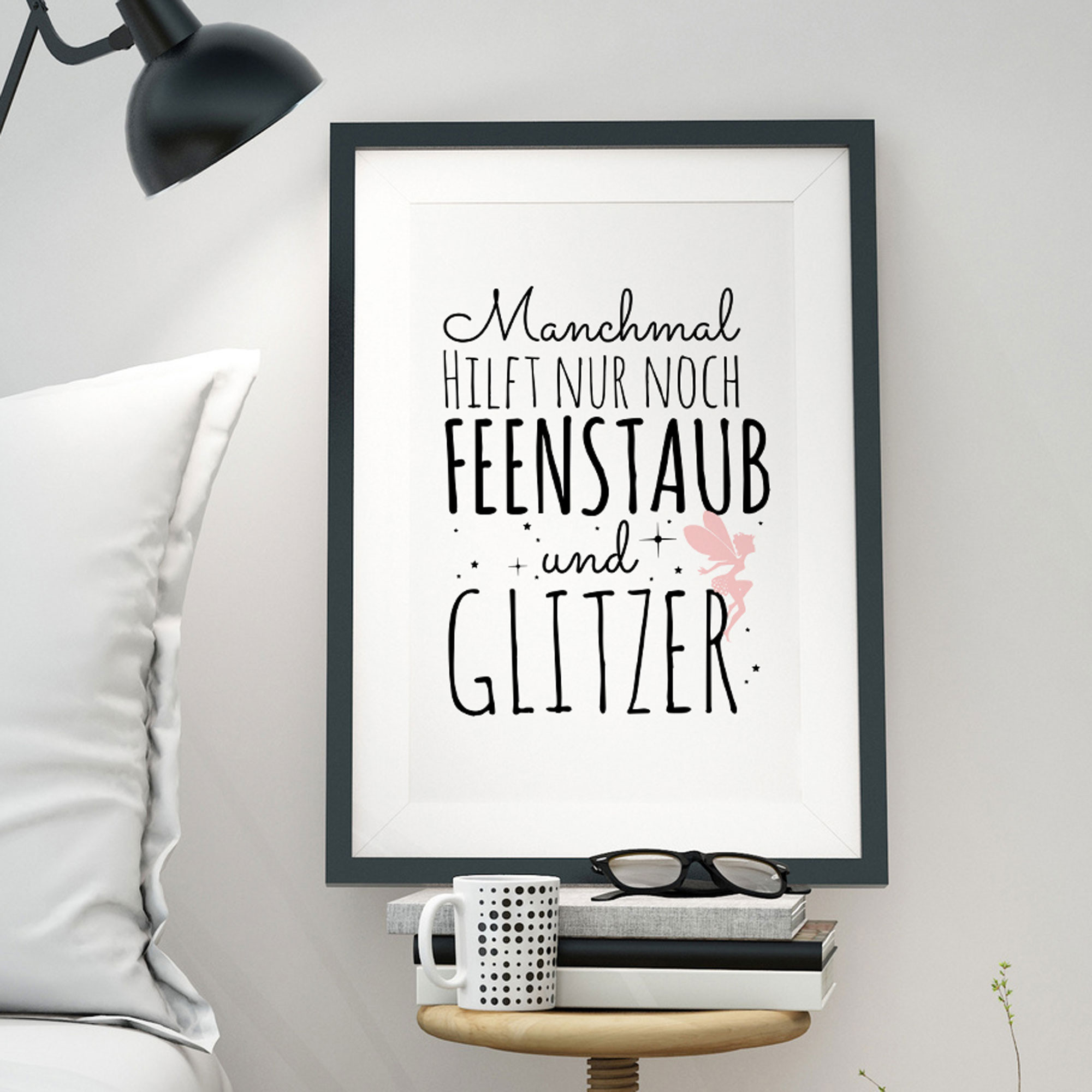 Poster Spruch A3 Print Illustration Poster Placard Fairy Elv With Quote Saying