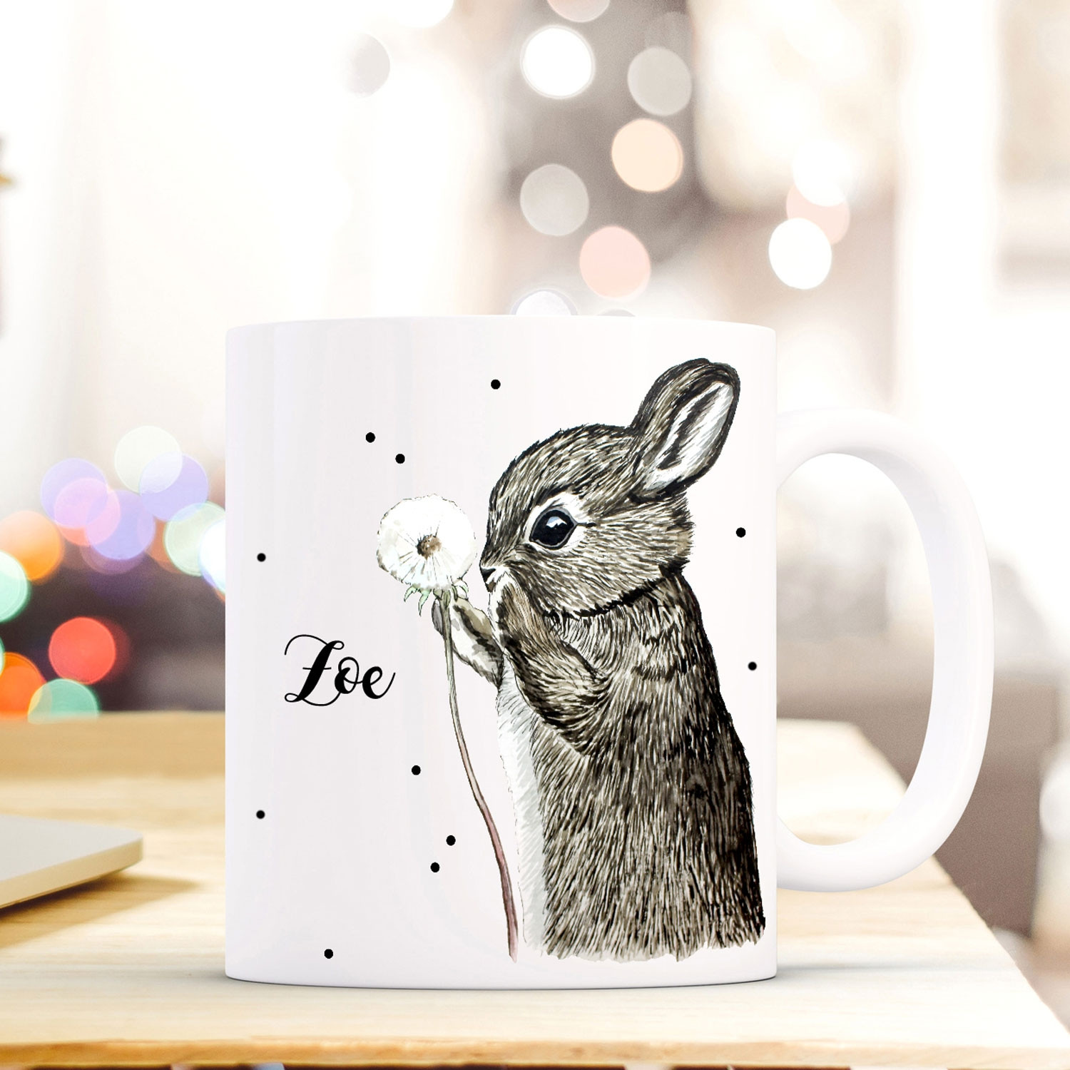 Tasse Mit Name Individuelle Tasse Becher Mit Hase Pusteblume And Name