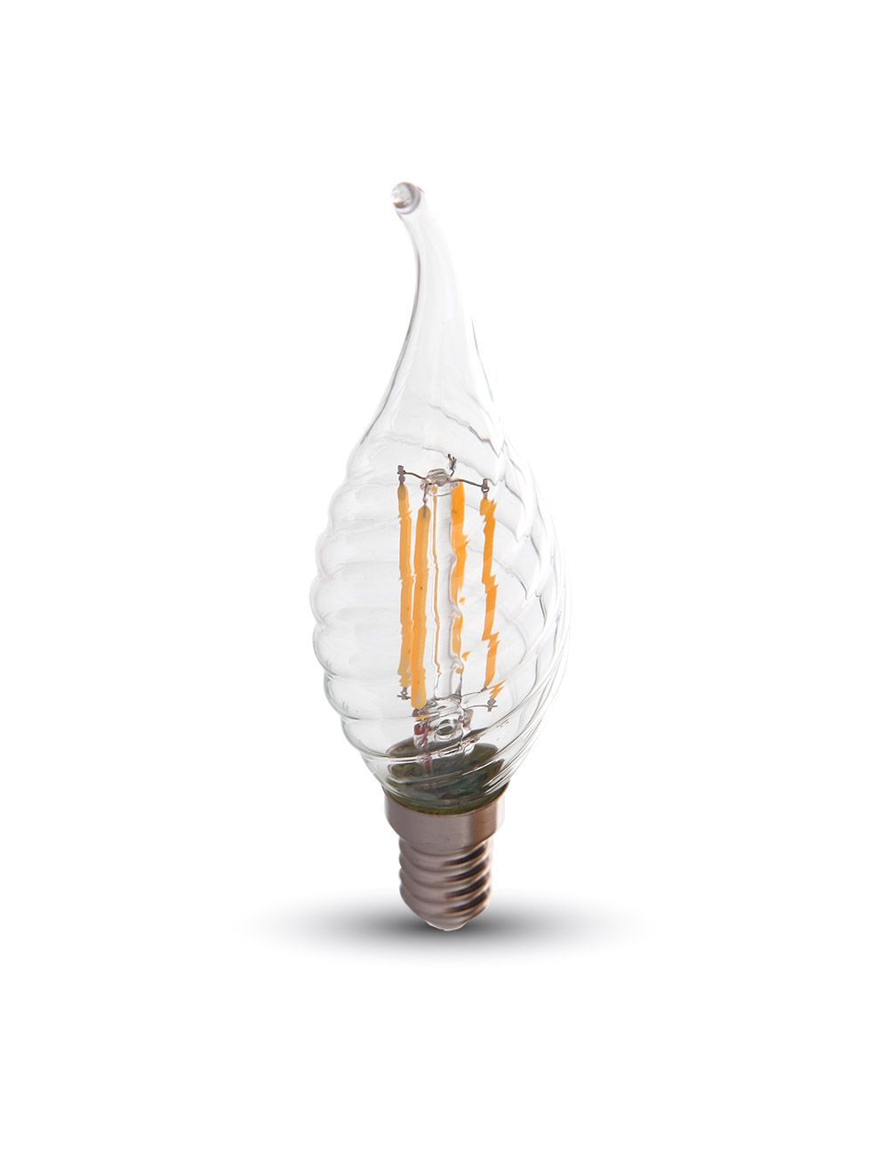 Led Glühbirne 4w Filament Patent E14 Twist Kerze Flamme Warmweiß