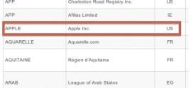 Apple lanza su propuesta ante la ICANN para el registro de sus dominios