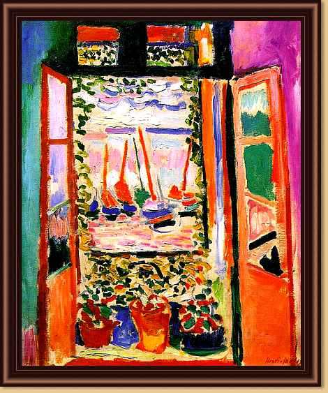 Pin henri matisse the window interior with forget me nots