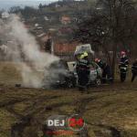 Incendiu autoturism Ocna Dej (1)