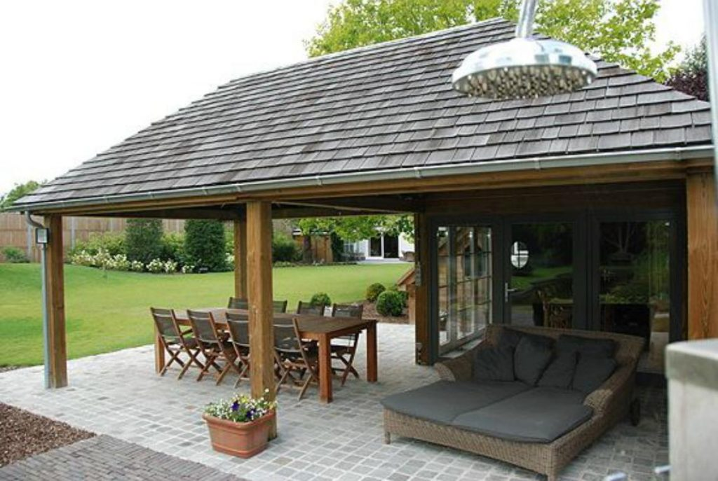 Piscine Et Pool House Carport – Poolhouse