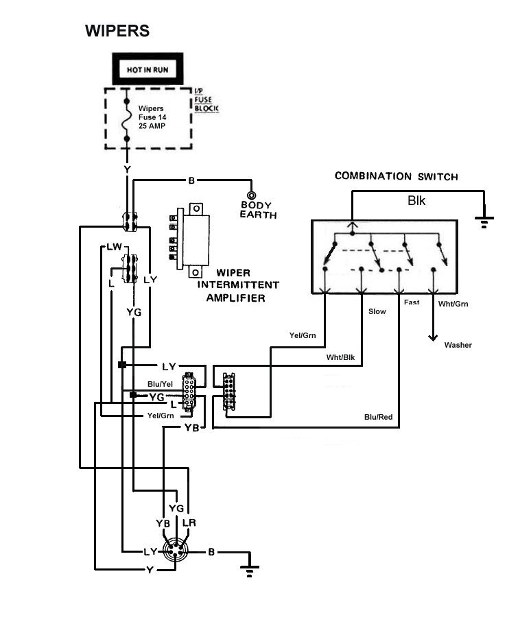 international wiper motor wiring diagram