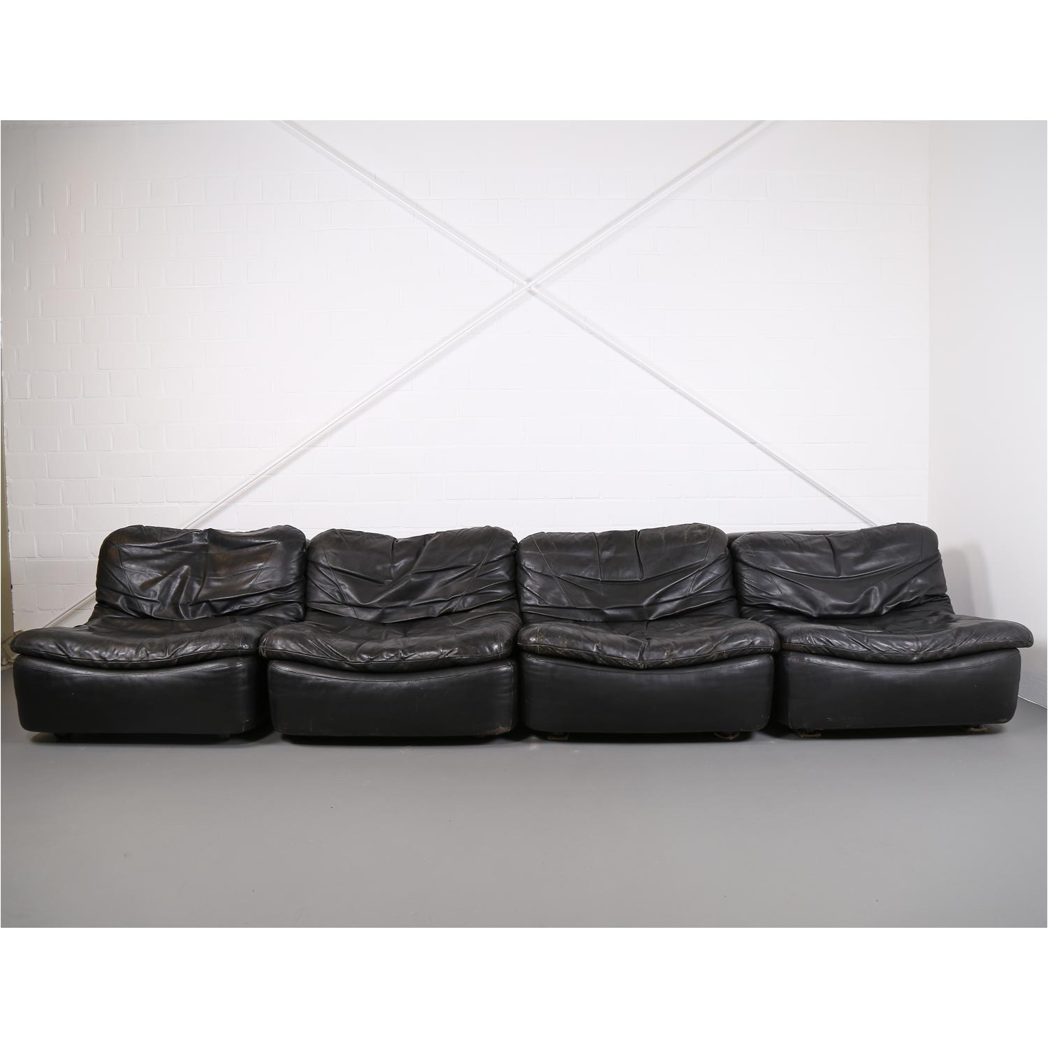 Vintage Ledersofa Vintage Modular Leather Sofa From Dreipunkt International Cor