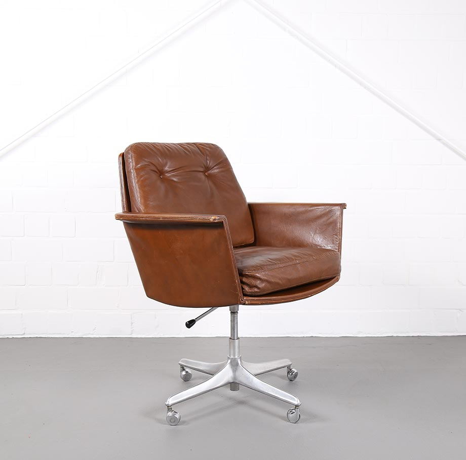 Cor Sessel Easy Chair Leather Chair Sedia By Horst Brüning For Cor Dekaden