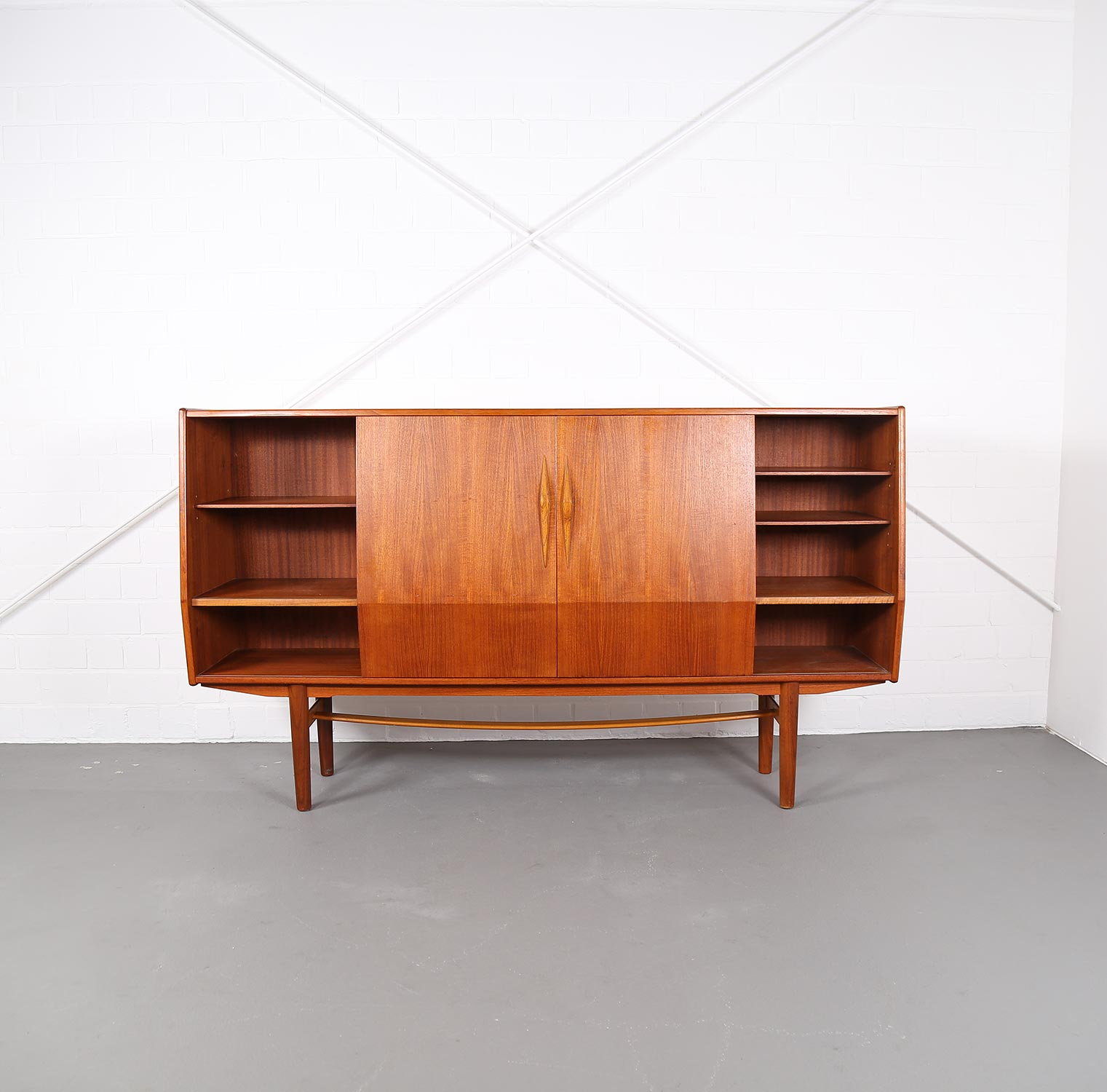 Sideboard Danish Design Geometric Danish Design Teak Sideboard Credenza Dekaden