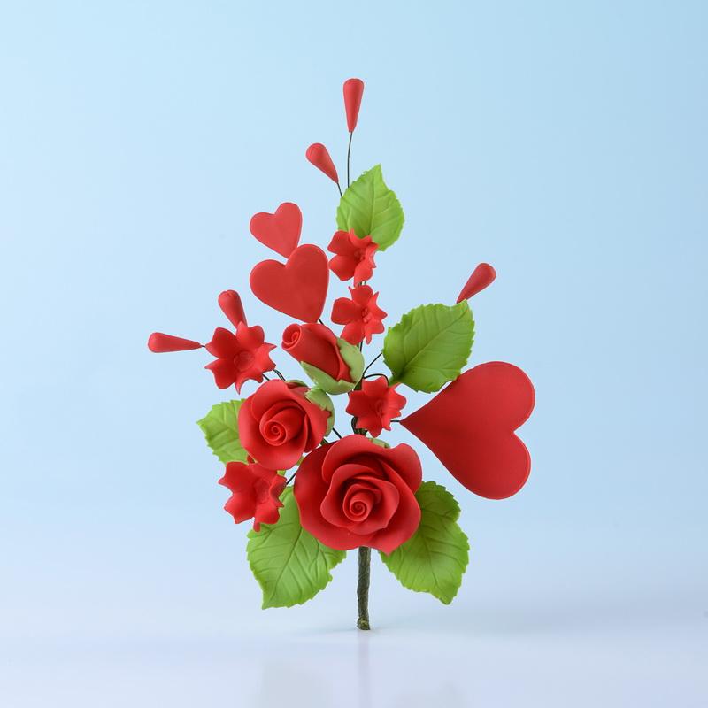 RAMO DE ROSAS Y CORAZONES Dekoeurop - rosas y corazones