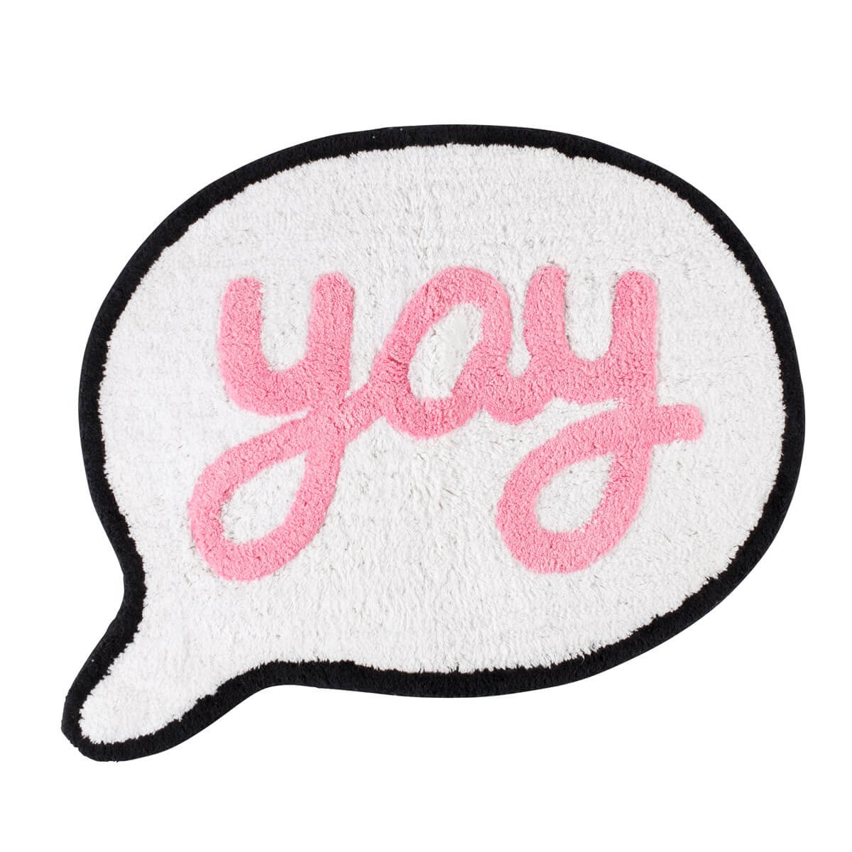 Teppich Vorleger Say Yay Speech Bubble Rug