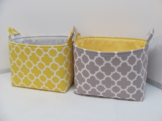 Fantastic Fabric Storage Baskets Crafthubs Yellow Fabric