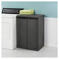 Sterilite 2 Shelf Storage Cabinet - Storage Designs