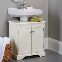 Bathroom Pedestal Sink Storage Cabinet - Storage Designs