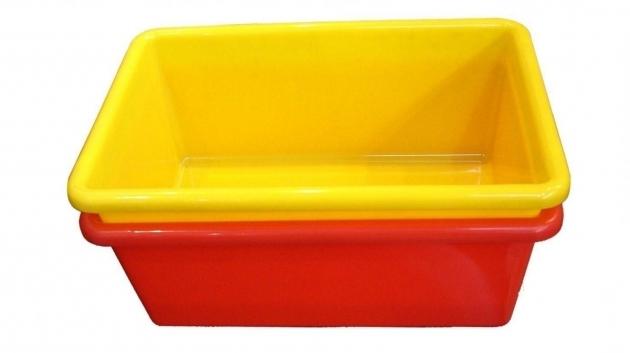 Red Plastic Storage Bins Storage Designs