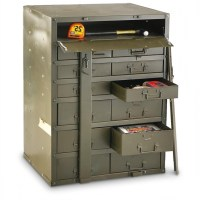 Stunning Used Us Military Metal Storage Cabinet 163691 ...