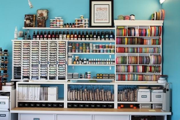 Fantastic Home Decor Pegboard Scrapbook Storage Easy