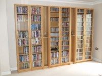 Stylish New Dvd Cd Blu Ray Media Storage Cabinet Glass