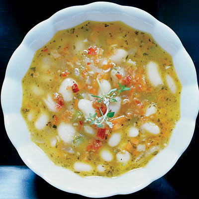 White-Bean Soup with Bacon and Herbs Recipe