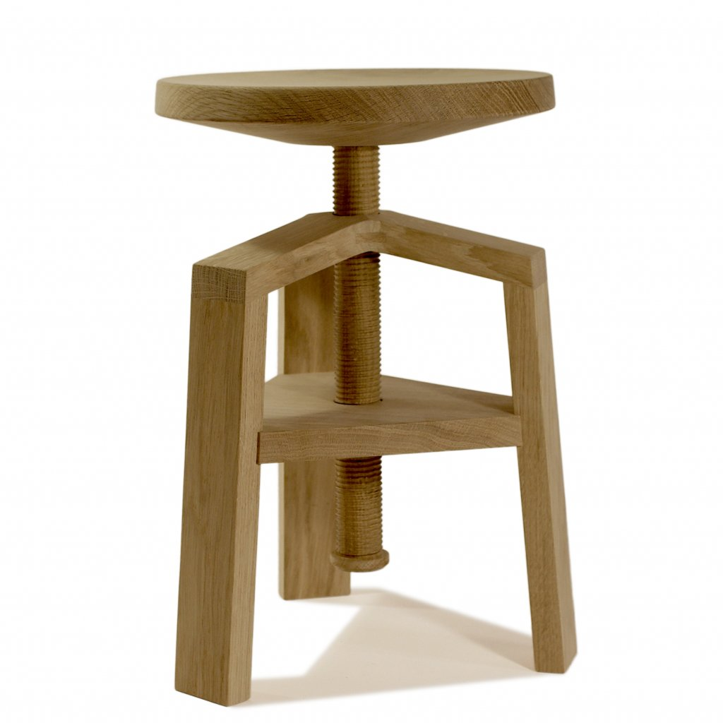 Tabouret Bois Tabouret à Vis Clock 4055 Bois Et Design Made In France