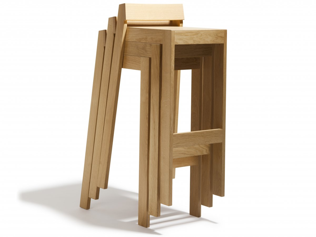 Tabourets De Bar Empilable Tabouret Pilpil En Chêne Bois Et Design Made In France