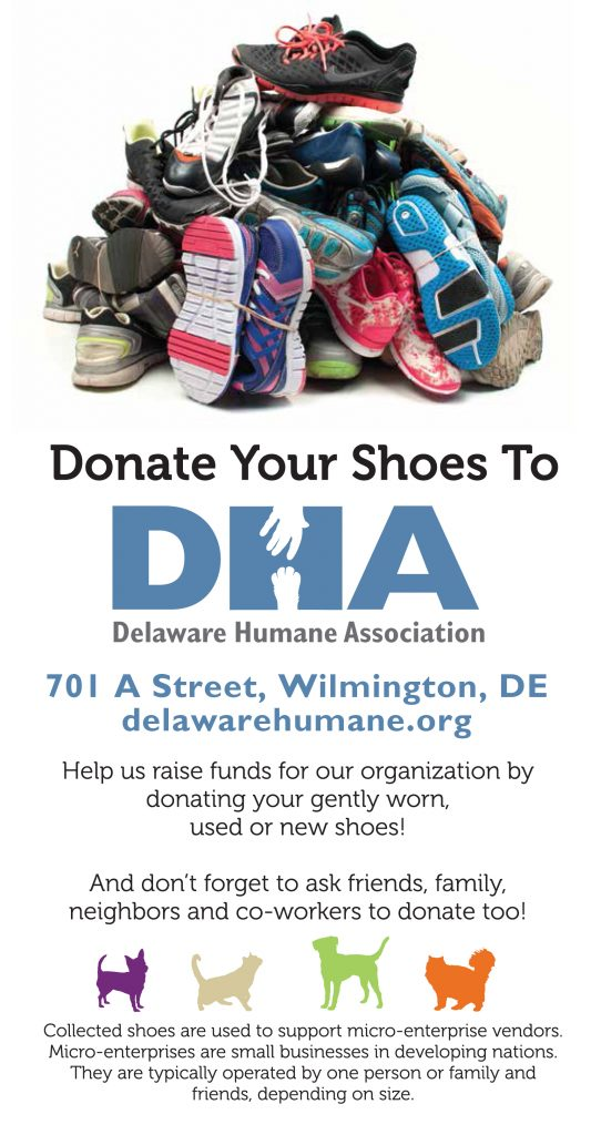 Wooftrax/Funds2Orgs Shoe Drive - Delaware Humane Association