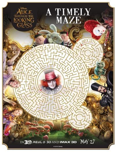 alice in wonderland printable maze