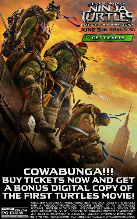Teenage Mutant Ninja Turtles Out of the Darkness movie poster