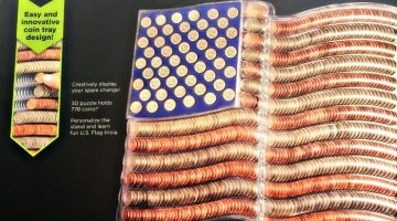 For the Kids: 3D Coin Art American Flag Review + Giveaway